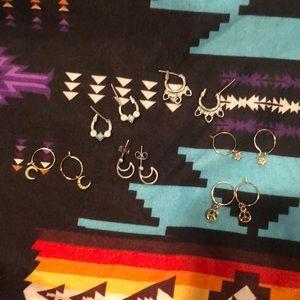 Two sets of free people earrings